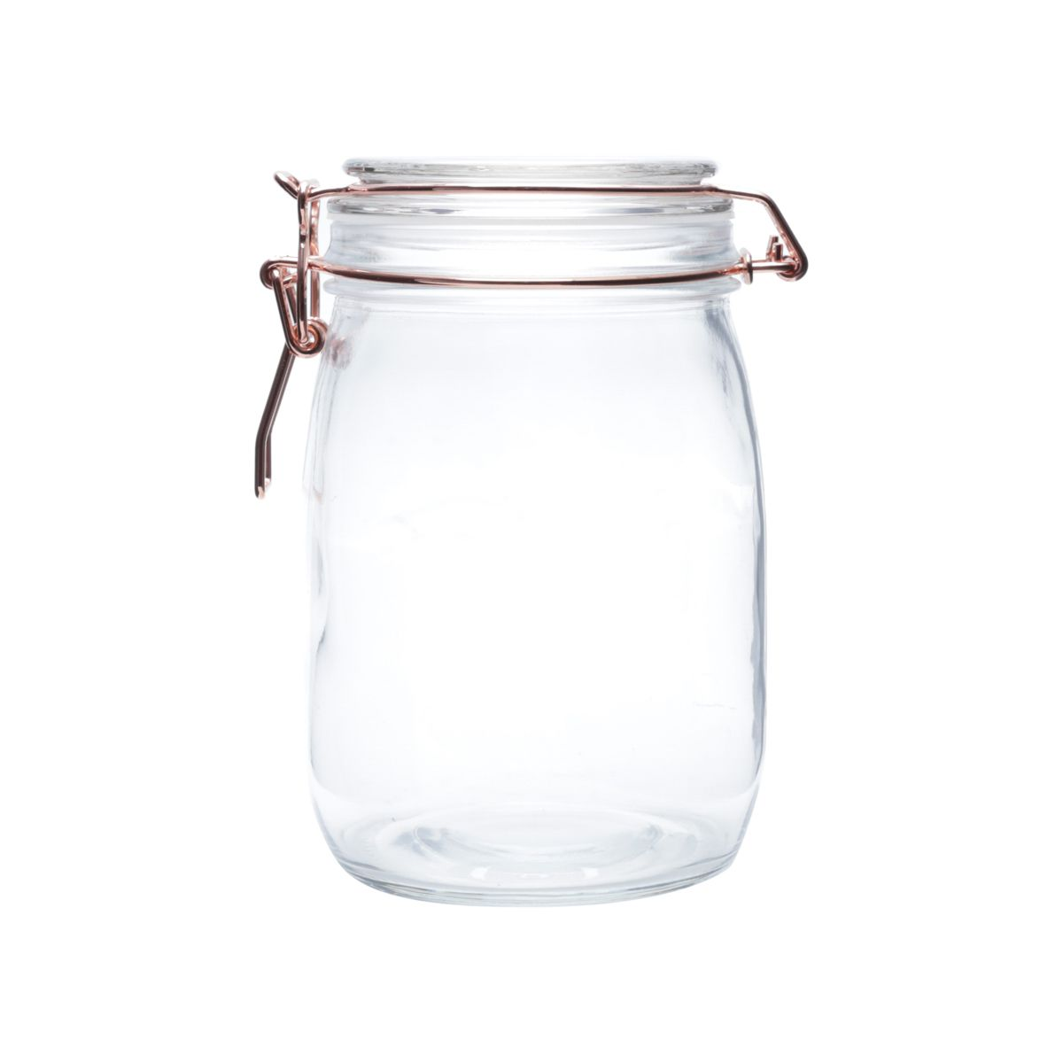 POTE VIDRO BOROSSILICATO HERMÉTICO COOPER GLASS FLIP BULGING COBRE GDE 10.5X10.5X17CM 1000ML - URBAN 40995