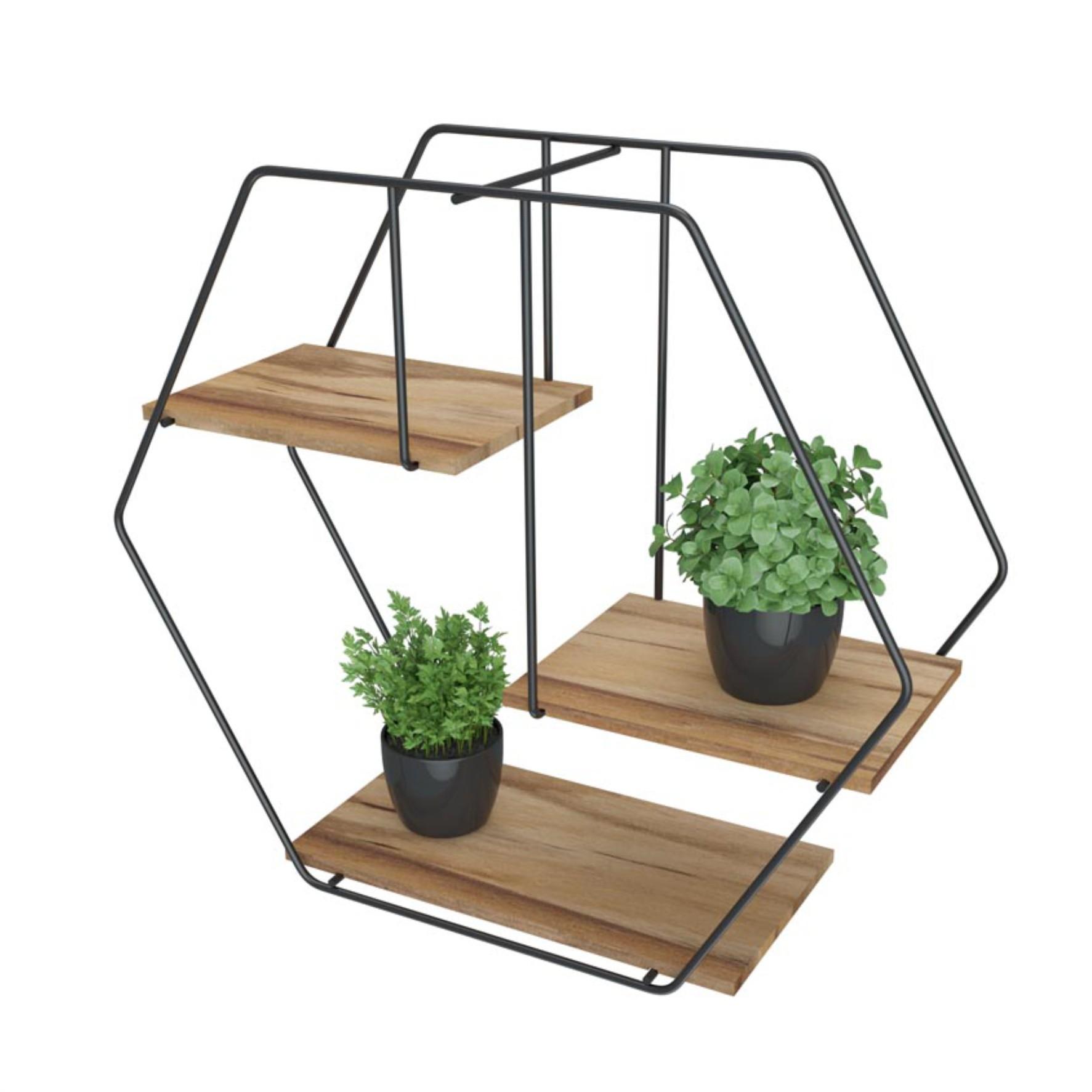 Prateleira Decorativa Hexagonal Firmato - Stolf