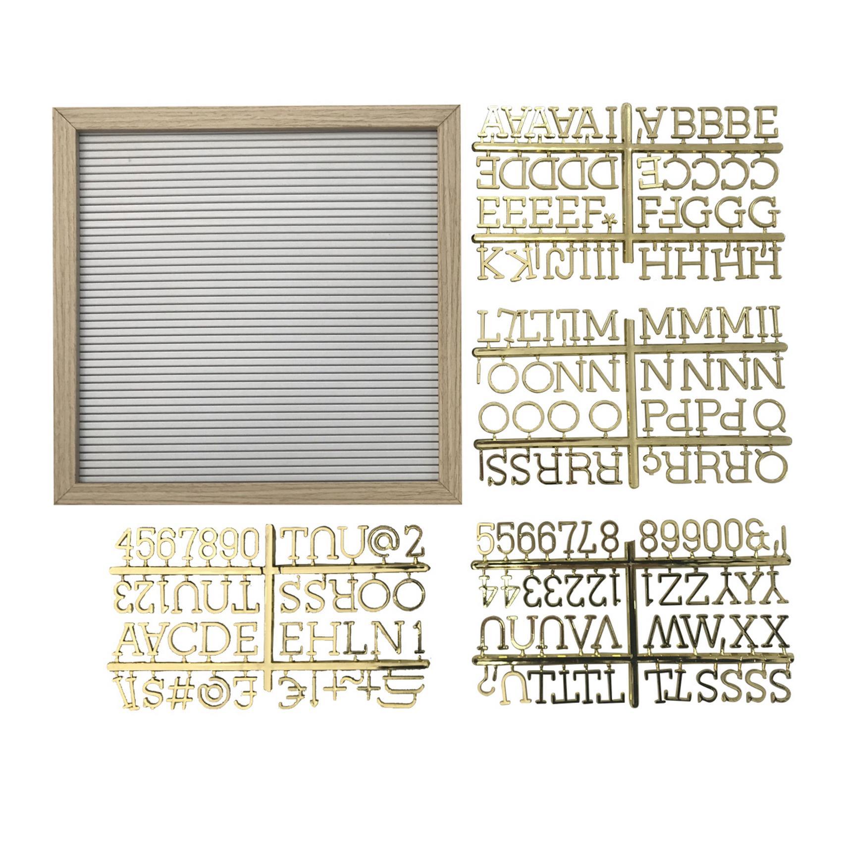 Quadro Madeira/Plastico Alfabeto Branco Letras Douradas 30.5X2X30.5Cm - Urban
