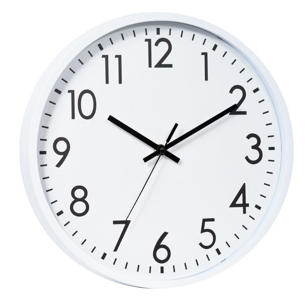 Relógio Parede Plástico Basic White Branco 20X3,8X20 Cm - Urban