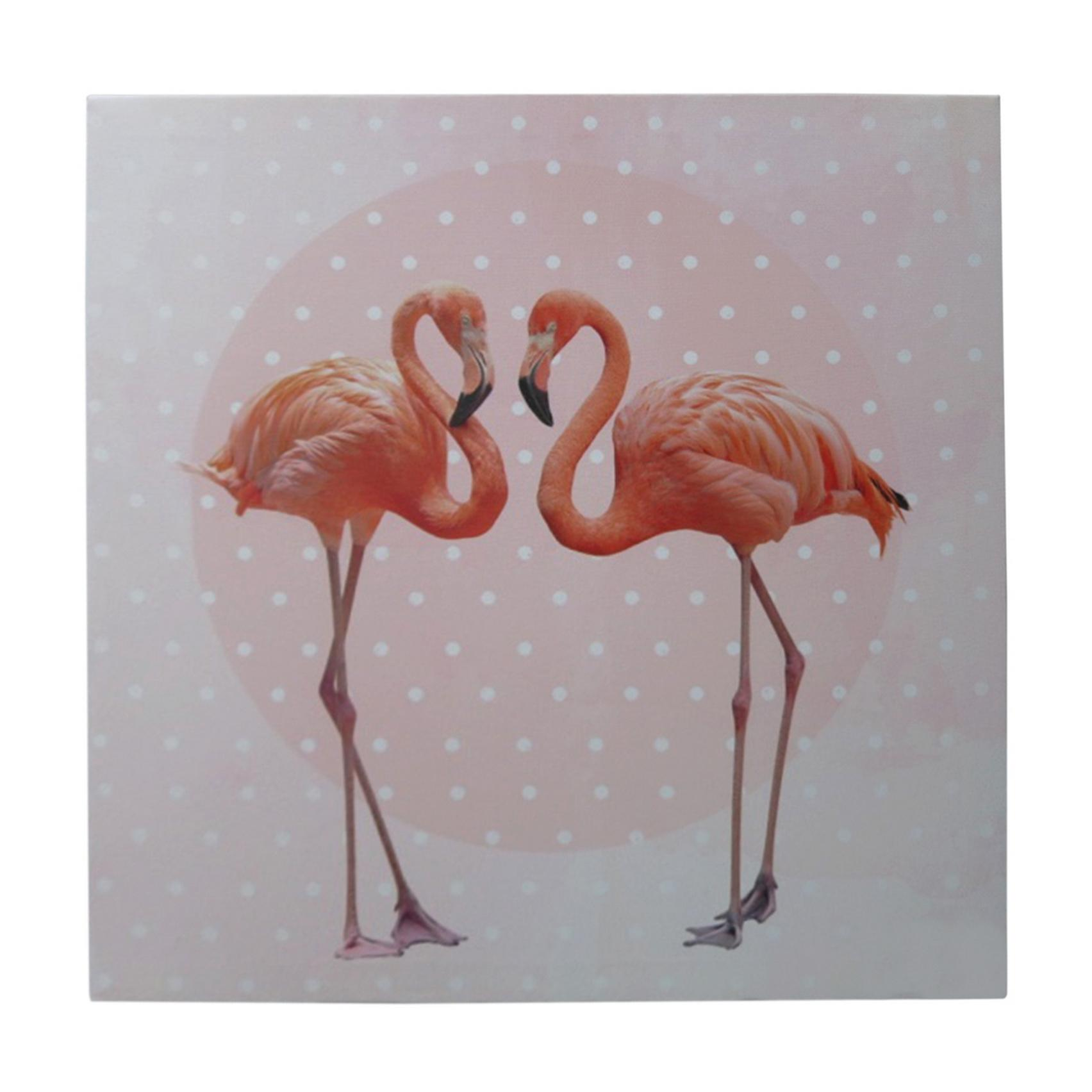 Tela Loved Flamingos Rosa 40 X 1,5 X 40 Cm - Urban