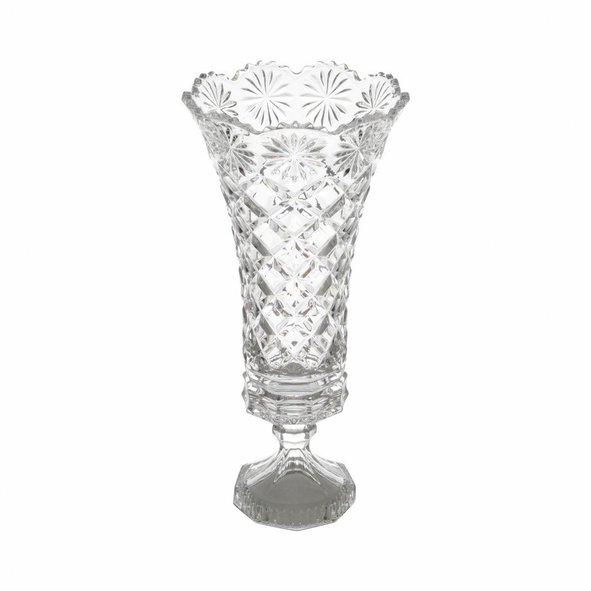 VASO COM PÉ DE CRISTAL DIAMOND - LYOR 3823