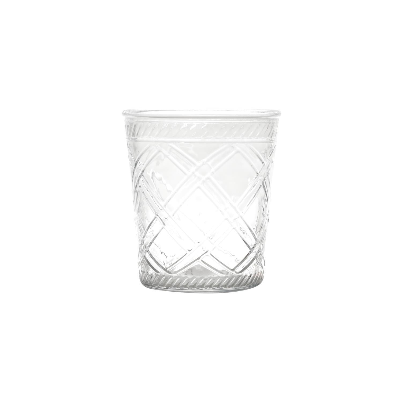 Vaso de Vidro Cross Lines Basic Transparente 15cm-Urban