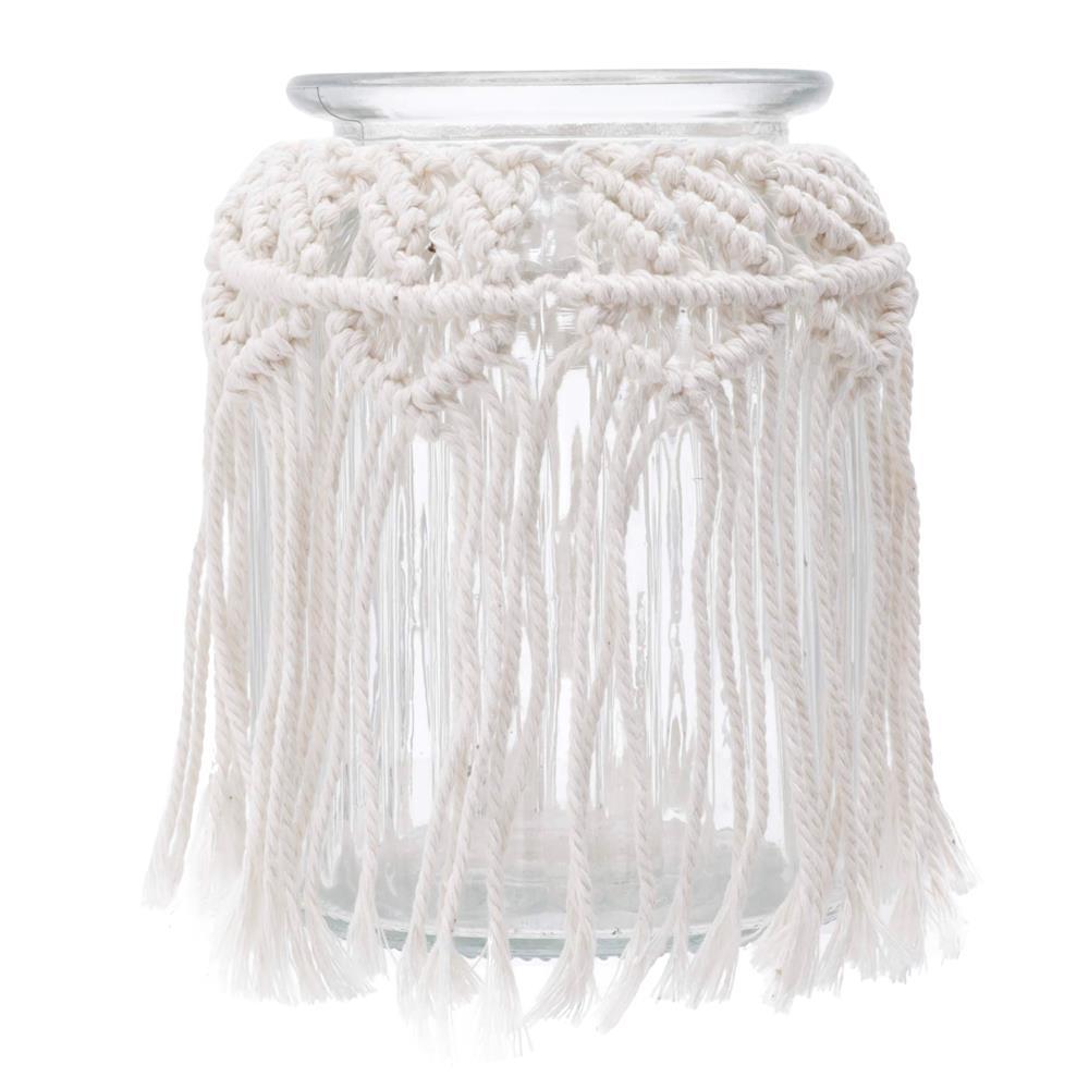 Vaso de Vidro Cross Lines Basic Transparente 15cm - Urban