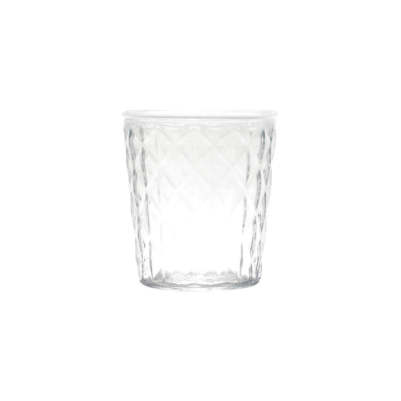 Vaso de Vidro Diamond Lines Basic Transparente 15cm - Urban