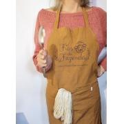 Avental para tingimento em algodão orgânico naturalmente colorido