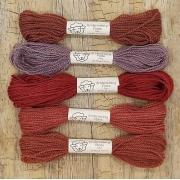 Fio de lã para bordado - Crewel Naturals - Série Corações - 24 metros