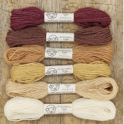 Fio de lã para bordado - Crewel Naturals - Série Terras - 24 metros
