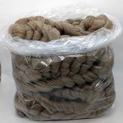 Lã Corriedale Cinza Natural para Tricô Gigante