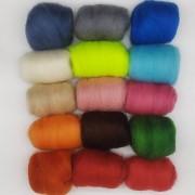 Lã Corriedale para Feltragem - Cores Avulsas - 25g
