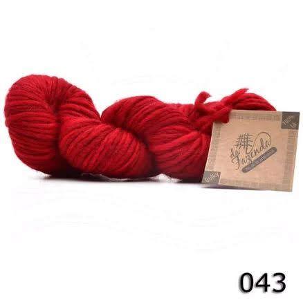 Fio de Lã Corriedale Bulky - Tingimento Tradicional - 100g