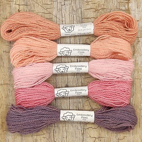Fio de lã para bordado - Crewel Naturals - Série Amores - 24 metros
