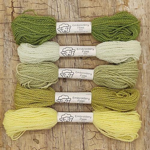 Fio de lã para bordado - Crewel Naturals - Série Ervas - 24 metros