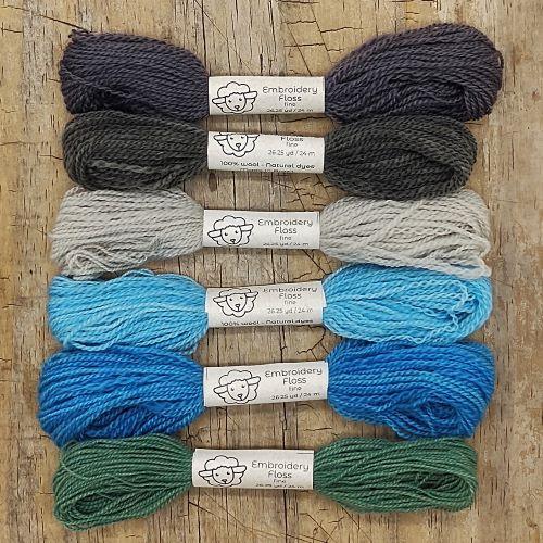 Fio de lã para bordado - Crewel Naturals - Série Mares - 24 metros