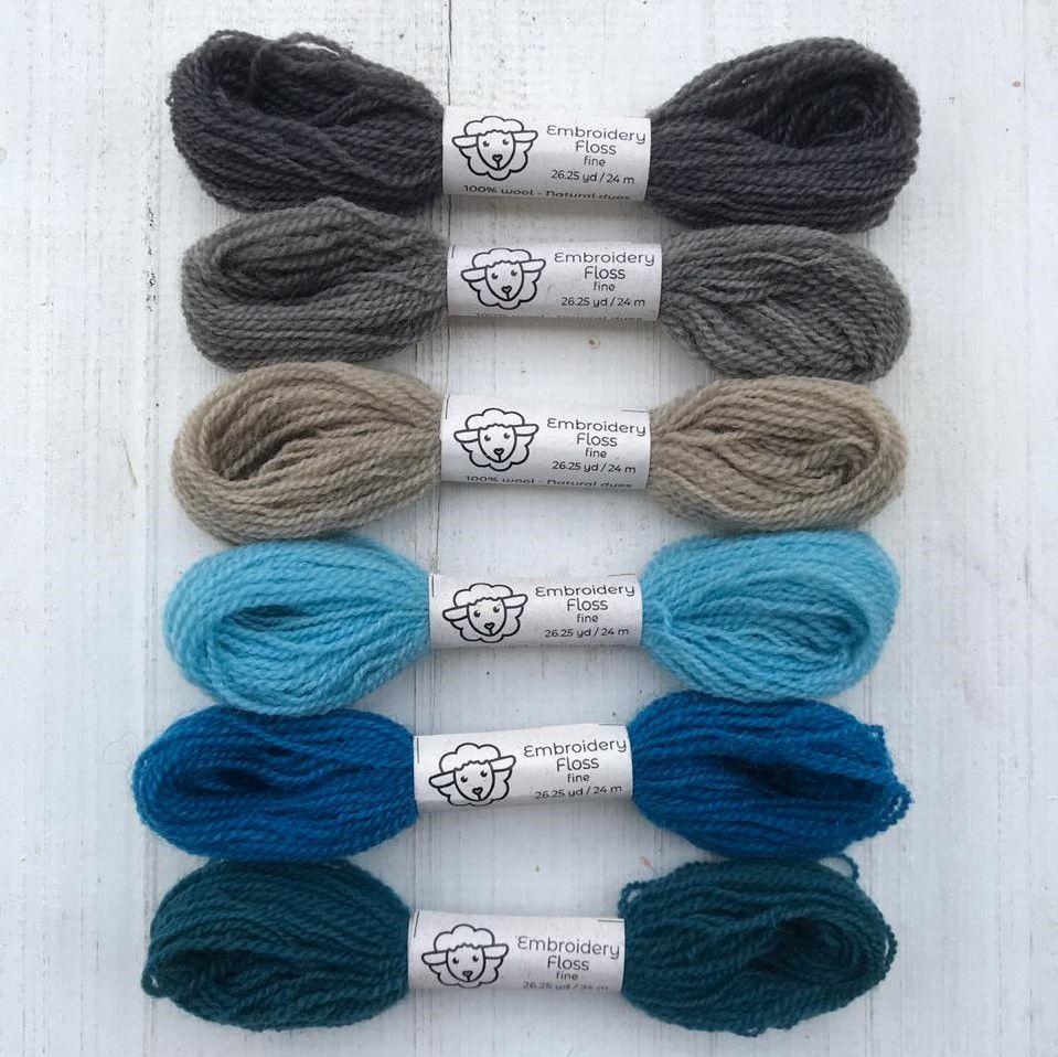 Fio de lã para bordado - Fine Naturals - 24 m
