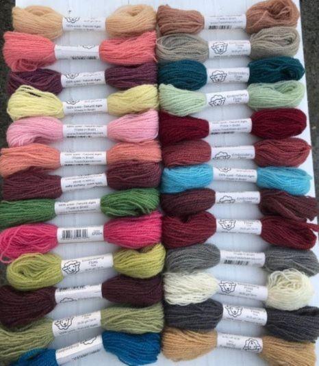 Fio de lã para bordado - Fine Naturals - Kits de cores
