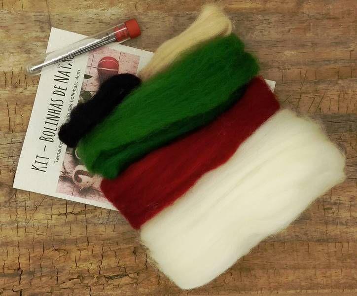 Kit para feltragem - Bolinhas de Natal