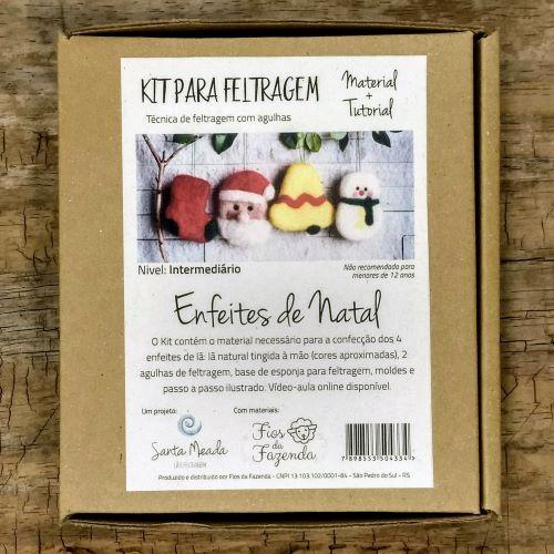 Kit para feltragem - Enfeites de Natal