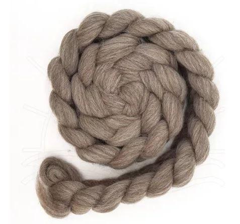 Lã Corriedale para Feltragem e Fiação - Cinza Natural - 200g