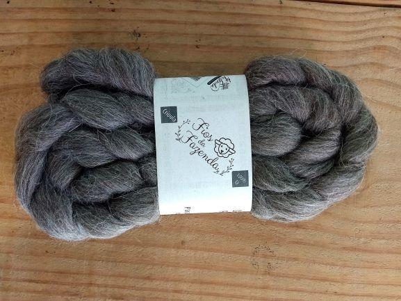Lã Crioula penteada para Feltragem e Fiação - 200g