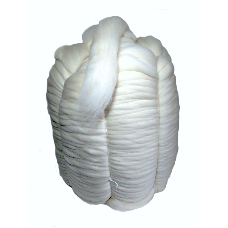 Lã Merino Natural para Tricô Gigante