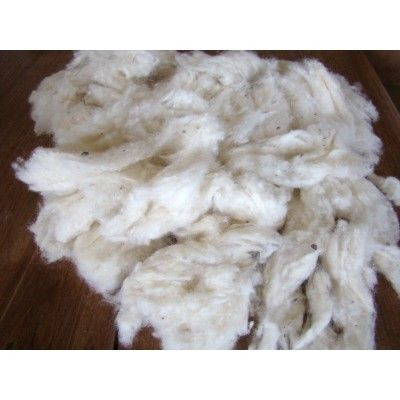 Lã natural para enchimento - 1 Kg