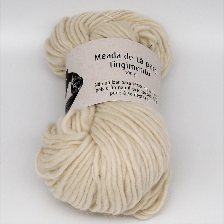 Meada de Lã para Tingimento Corriedale Bulky - 100g