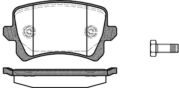 PASTILHA DE FREIO AUDI A6 3.0 V6 TFSI Sportback Sedan 12/...  - TRASEIRA