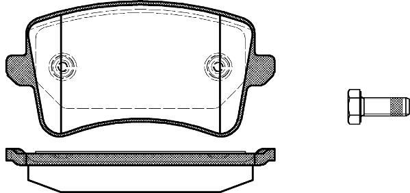 PASTILHA DE FREIO AUDI S4 3.0 V6 (333cv) 11/...  - TRASEIRA