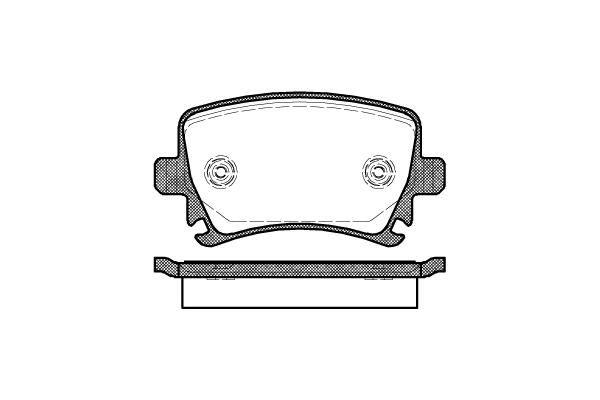 PASTILHA DE FREIO AUDI TT 2.0 TFSI Roadster (211 cv) 12/...  - TRASEIRA