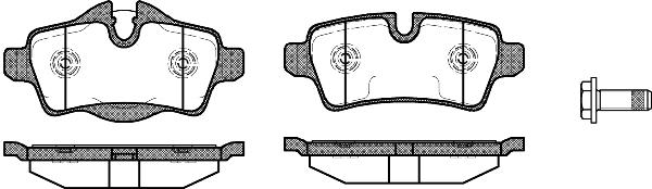 PASTILHA DE FREIO BMW MINI  Cabrio 1.6 ( 211 cv ) 11/...  - TRASEIRA