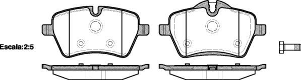 PASTILHA DE FREIO BMW MINI COOPER 1.6 ONE /S COUPE /ROADSTER /ALL4  11/...  - DIANTEIRA