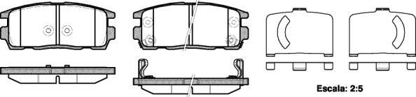 PASTILHA DE FREIO CHEVROLET CAPTIVA 3.6 V6/ Ecotec 2.4 2WD 3.6 V6/ Ecotec 2.4 2WD 07/...  - TRASEIRA