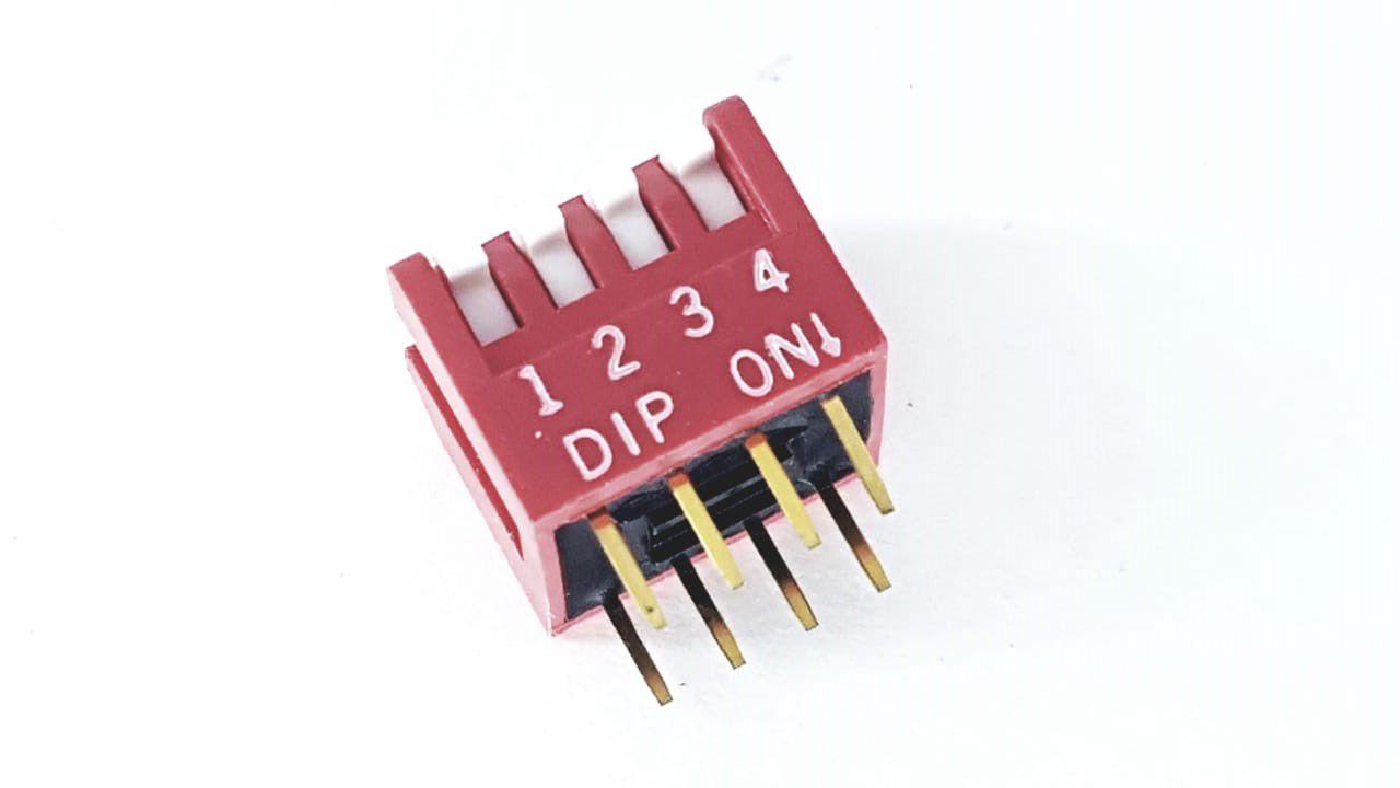 10 Peças De Dip Switch 4 Vias 180 Graus - Novo DP-04