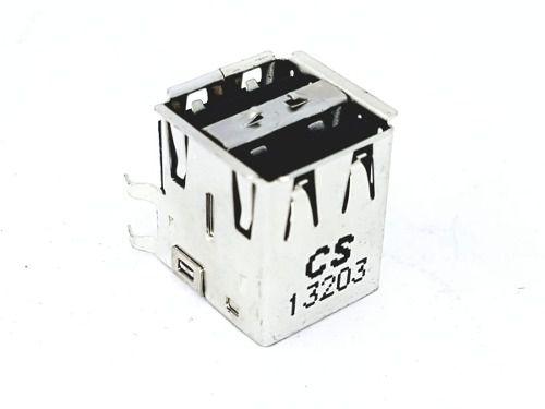 Conector Usb Duplo Fêmea Para Solda 8 Pinos Foxconn Ub11123