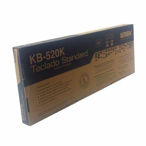 Teclado Para Computador Desktop Ps2 Novo Preto Kemex Kb520k