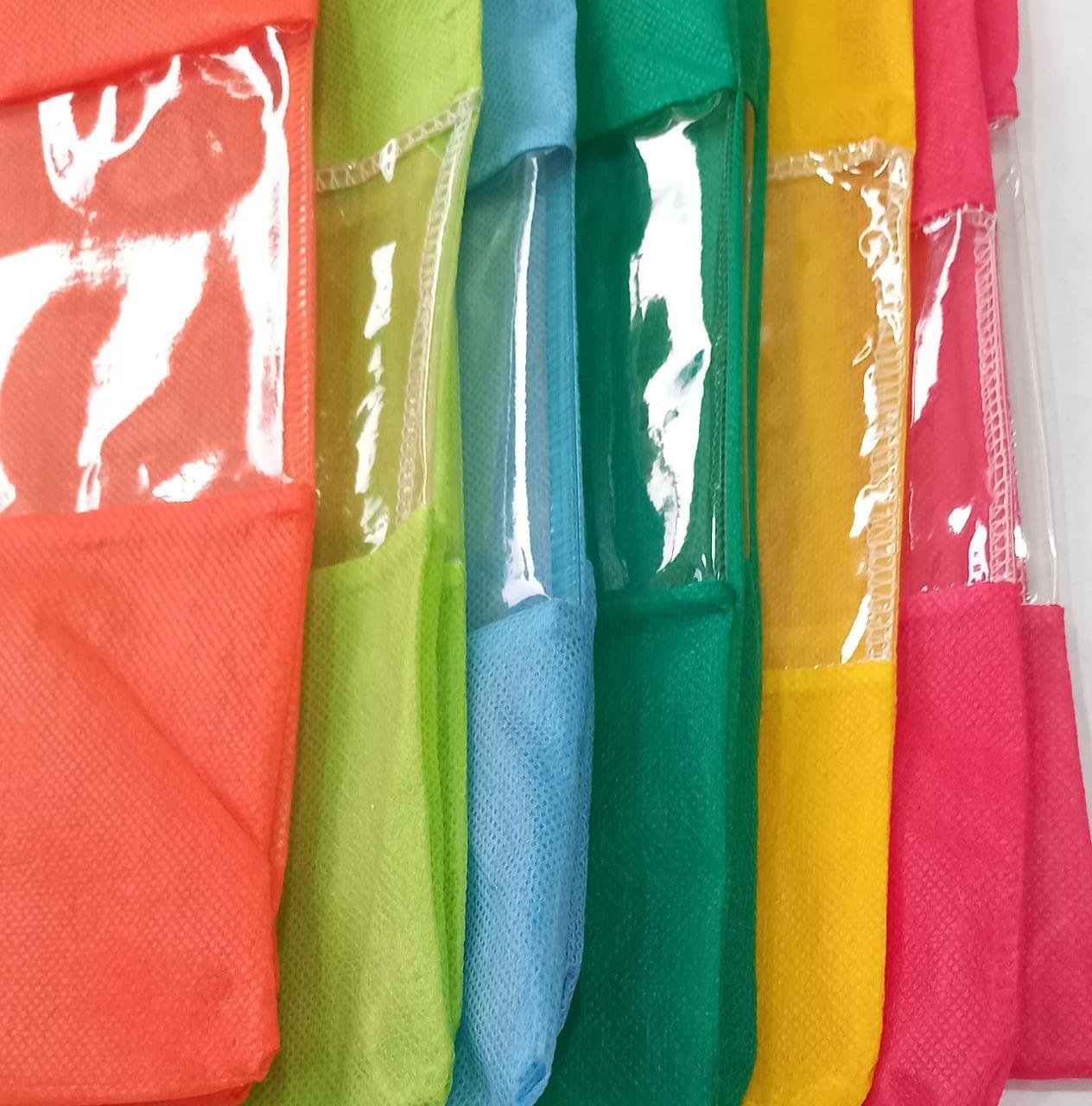 12 Saco Organizador para Sapatos  Com Visor Transparente em TNT com 6 cores diferentes