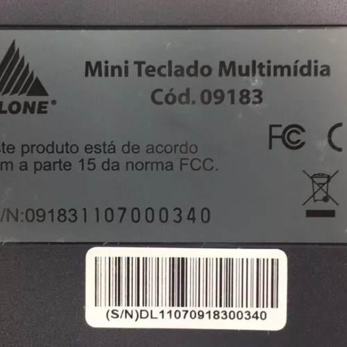 Mini Teclado Multimídia Abnt2 Usb 09183 Clone Novo