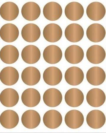 Adesivo Cartela Circulo Dourado 1,5cm Fdecoração Scrap
