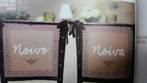 Placa Divertida para Casamento Reservado  Retrovisor Cadeira