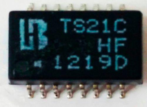 Transformador Lan 10/100 100 10 Ts21c Smd 16 Pinos 1219d