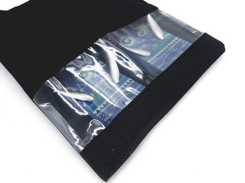 10 Sacos Organizadores para Sapato de tamanho Grande ideal para masculino e de salto em TNT na cor preta com Visor transparente