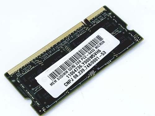 Memória Sodimm Notebook 2gb Ddr2 Pc2-6400 Micron