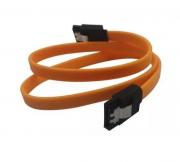 100 peças Cabo De Dados Sata Com Trava Foxcon 50 Cm Amarelo