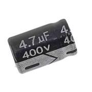 100 peças Capacitor Eletrolítico 4,7 Uf x 400 V 105 Graus Chongx 105°