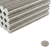 100 peças Imã de neodímio redondo super forte 12,5 mm x 2 mm tipo pastilha para projetos de robótica e brinquedos