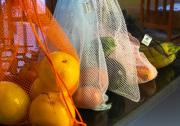 10 Saquinhos sustentáveis reutilizáveis para frutas, legumes e verduras para compras mercado estilo ecobags BRANCO FM4