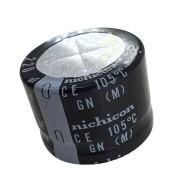 1 peça Capacitor Eletrolítico 220 Uf x 450 V 105 Graus Nichicon 105° GN (M)