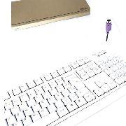 10 Peças Teclado Para Computador Ps2 Branco Multimídia K291