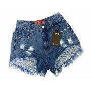 Shorts Jeans Cós Alto Cintura Alta Destroeyd